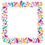 Vectorvakantie vierkant kader met ornament van veelkleurige dalingen Voor Carnaval-ontwerp, festivallen, thema's van liefde, kind royalty-vrije illustratie