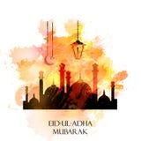 Vectorvakantieillustratie Eid Al Adha Royalty-vrije Stock Afbeeldingen