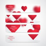 Vectorvalentine hearts background stock illustratie