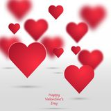 Vectorvalentine hearts background Stock Afbeeldingen
