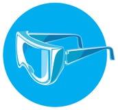 Vectorveiligheidsbril Stock Afbeeldingen
