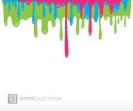 Vectorverf kleurrijke druipende achtergrond Stock Afbeeldingen