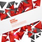 Vectorvierkanten. Abstract rood als achtergrond Stock Afbeeldingen