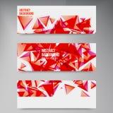 Vectorvierkanten. Abstract rood als achtergrond Stock Foto's
