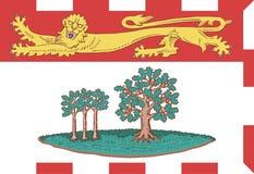 Vectorvlag van Prins Edward Island, provincie van Canada vector illustratie