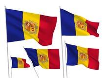 Vectorvlaggen van Andorra vector illustratie