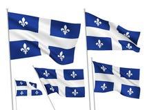 Vectorvlaggen van de provincie van Quebec van Canada stock illustratie