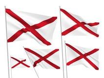 Vectorvlaggen van de staat van Alabama Royalty-vrije Stock Fotografie