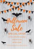 Vectorvlieger voor Halloween-verkoop Royalty-vrije Stock Foto