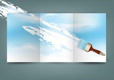 Vectorvliegermalplaatje voor zaken Stock Fotografie