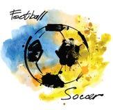 Vectorvoetbal stock illustratie
