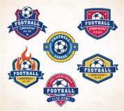 Vectorvoetbal of voetbalemblemen Royalty-vrije Stock Fotografie
