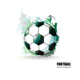 Vectorvoetbalbal Royalty-vrije Stock Fotografie