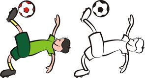 Vectorvoetballer - striker Stock Foto