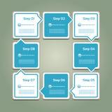 Vectorvooruitgangsachtergrond/Productkeus of Versie Stock Afbeelding