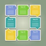 Vectorvooruitgangsachtergrond. Productkeus of Versie Stock Foto's