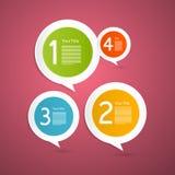 Vectorvooruitgangsstappen voor Leerprogramma, Infographics Stock Foto's