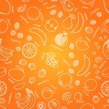 Vectorvruchten patroon De naadloze achtergrond van vruchten Stock Foto's