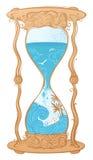Vectorwater sandglass illustratie Stock Foto's