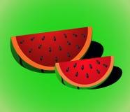 Vectorwatermeloenplak Stock Afbeelding