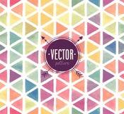 Vectorwaterverf naadloos patroon Royalty-vrije Stock Afbeeldingen