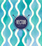 Vectorwaterverf naadloos patroon royalty-vrije illustratie