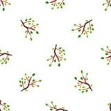 Vectorwaterverfblad Herbarium De herfst naadloos patroon met blad Het Thema van de herfst Een regenjas, Paraplu, Rubberlaarzen vector illustratie