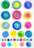 Vectorwaterverfvlekken voor uw ontwerp. Stock Afbeelding