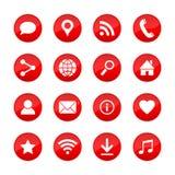 Vectorwebpictogrammen voor media, mededeling, zaken, mobiel en meteorologie Royalty-vrije Stock Foto's