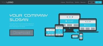 Vectorwebsitekopbal of bannermalplaatje Stock Afbeeldingen
