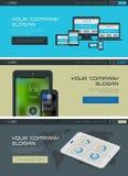 Vectorwebsitekopbal of bannermalplaatje Royalty-vrije Stock Foto's