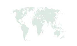 Vectorwereldkaart op witte achtergrond Royalty-vrije Stock Afbeeldingen