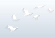 Vectorwit die als achtergrond hoog vliegen Royalty-vrije Stock Fotografie