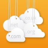 Vectorwolken ontvangende illustratie Royalty-vrije Stock Afbeeldingen