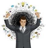 Vectorzakenman With Hands Up vector illustratie