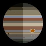 Vectorzonnestelselplaneet Jupiter royalty-vrije stock foto