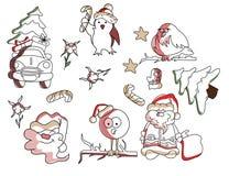 Vectos set of New Year holyday elements, symbols vector illustration