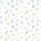 Vector seamless doodle pattern in pastel colors with dark outline. Vector set of 4 diamond doodle pattern swatches in pastel colors. Simple girly background vector illustration