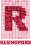Vectr mosaic font Stock Photos