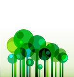 Vectro background with green stylised trees Stock Images