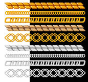 Vectro chain, gold, silver. Royalty Free Stock Photography