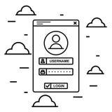 Vectro czerni linii nazwy użytkownika interfejs Obraz Stock