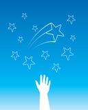vectror звезд рук Стоковая Фотография RF