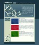 Vectror web site layout royalty free illustration