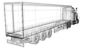 Veículo de entrega da carga Fotografia de Stock Royalty Free