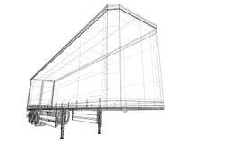 Veículo de entrega da carga Imagens de Stock