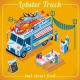 Veículo do caminhão 03 do alimento isométrico Fotografia de Stock Royalty Free