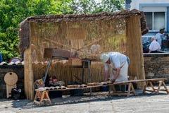 Veda ³ BÃ, Луго, Испания, 14-ое июля 2018: Ремесленничество справедливое Outrora Rubian стоковые изображения rf