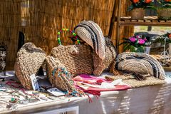 Veda ³ BÃ, Луго, Испания, 14-ое июля 2018: Ремесленничество справедливое Outrora Rubian стоковое фото rf