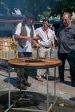 Veda ³ BÃ, Луго, Испания, 14-ое июля 2018: Ремесленничество справедливое Outrora Rubian стоковое фото